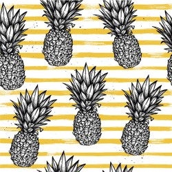 Carrelage autocollant Ananas yellow