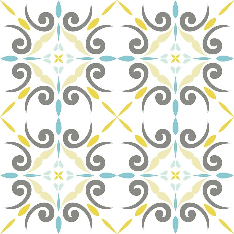 Sticker anastasia0015 blue for Carrelage autocollant