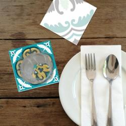 Dessous de verre Jade set 1