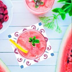 Dessous de verre Anastasia pink set 2