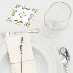 Dessous de verre Anastasia blue set 1