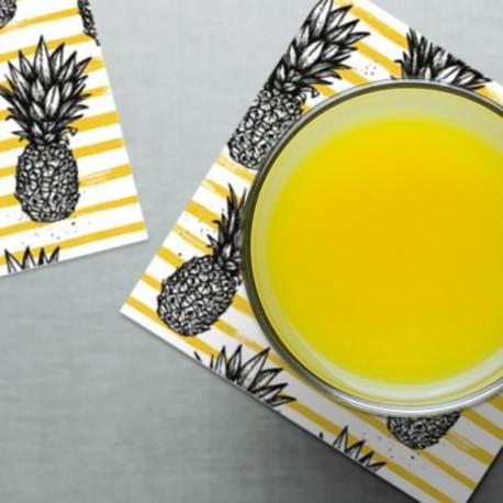 Dessous de verre Ananas Yellow