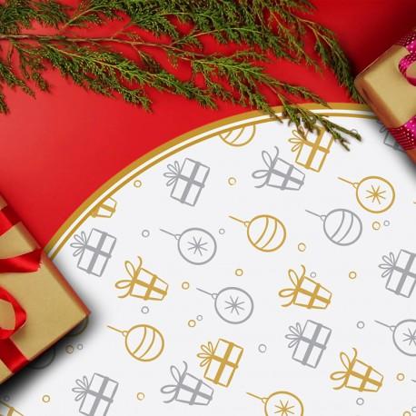 Tapis vinyle rond Cadeaux