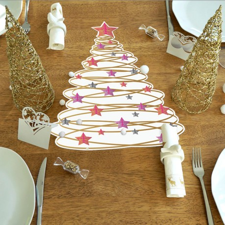 Set de table Sapin spiral