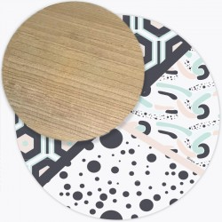 Tapis Vinyle rond Andalouz Hexa Dots