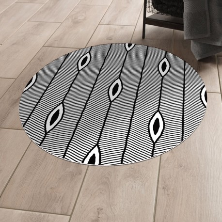 Tapis vinyle rond Chicago