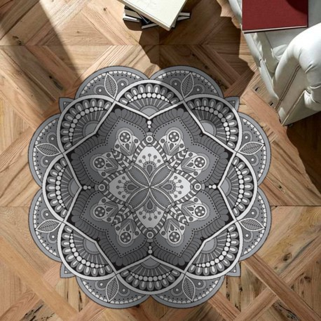 Tapis vinyle rond Fort Worth