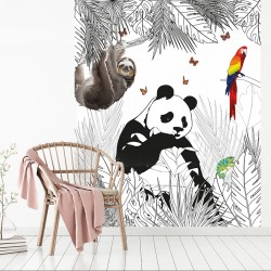 Papier peint adhésif panoramique Scène Animaux Panda
