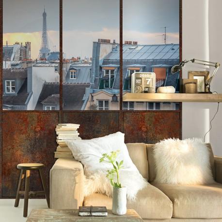 Papier peint adhésif panoramique Verrière Toits de Paris
