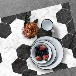 Set de table Hexa Marbre Ardoise