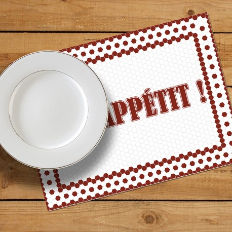 Set de table Bon Appétit !