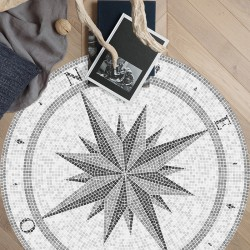 Tapis vinyle Rond Compass Rose