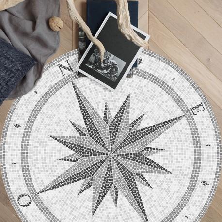 Tapis vinyle Rond Compass Rose