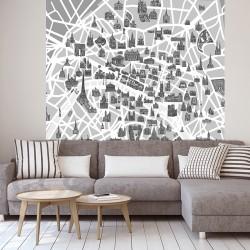 Papier peint adhésif panoramique Paris et ses Monuments