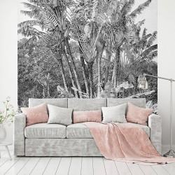 Papier peint adhésif panoramique Gravure Jungle
