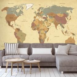 Papier peint adhésif panoramique Mappemonde Ancienne
