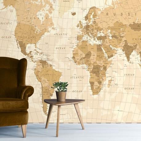 Papier peint adhésif panoramique World Map