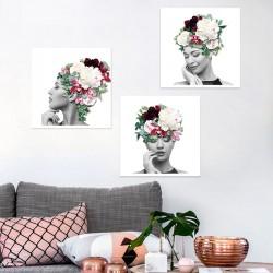 Tableaux Portrait Floral