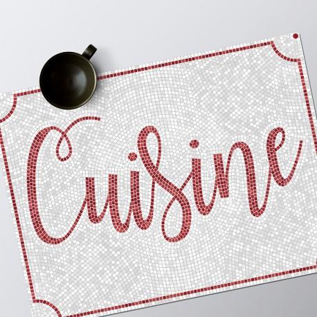 Set de table Mosaïque Cuisine