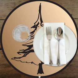 Set de table rond Sapins 3