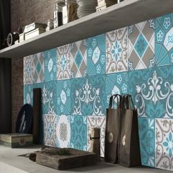 Crédence adhésive autocollante décoration imitation carreaux de ciment