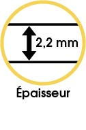 Tapis vinyle épaisseur 2,2 mm