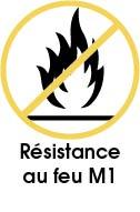 Crédence adhésive anti feu classification M1