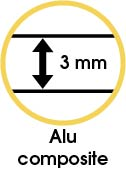 Crédence adhésive Alu composite haute qualité