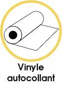 Crédence adhésive vinyle autocollant haute qualité