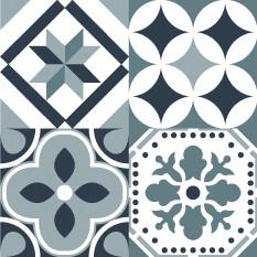Olga Turquoise Gris Bleu Sticker