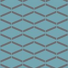 Géométrique 01 Bleu Canard