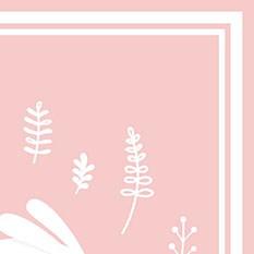 Lapin fond rose